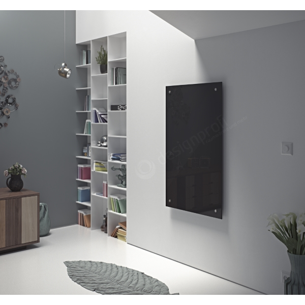 infrarotheizung glas paneel rahmenlos verschiedene farben ebay. Black Bedroom Furniture Sets. Home Design Ideas