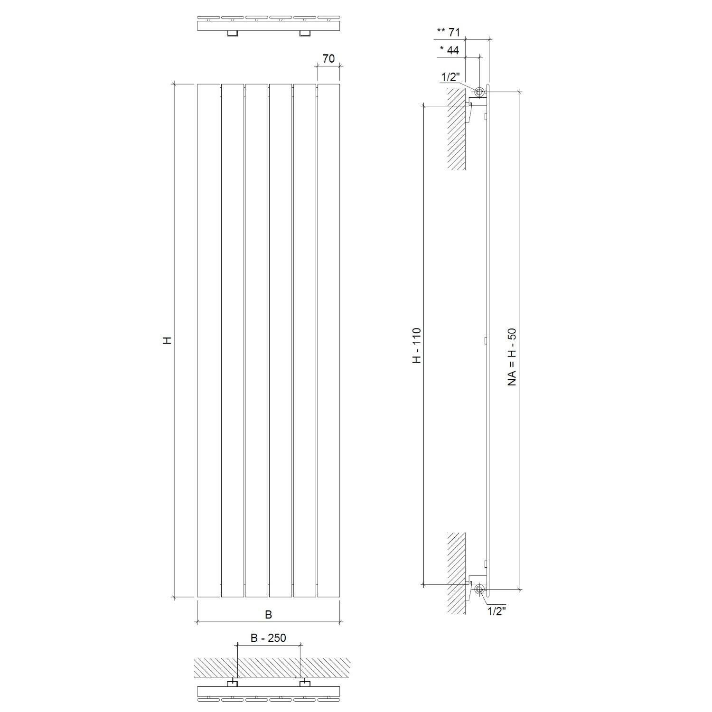 heizk rper paneel heizwand gerade raumheizk rper wei 1500x445 mm 685 watt ebay. Black Bedroom Furniture Sets. Home Design Ideas