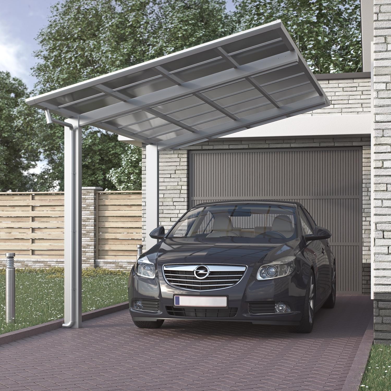 Aluminium carport bausatz einzelcarport freistehend edel for Carport aluminium glas