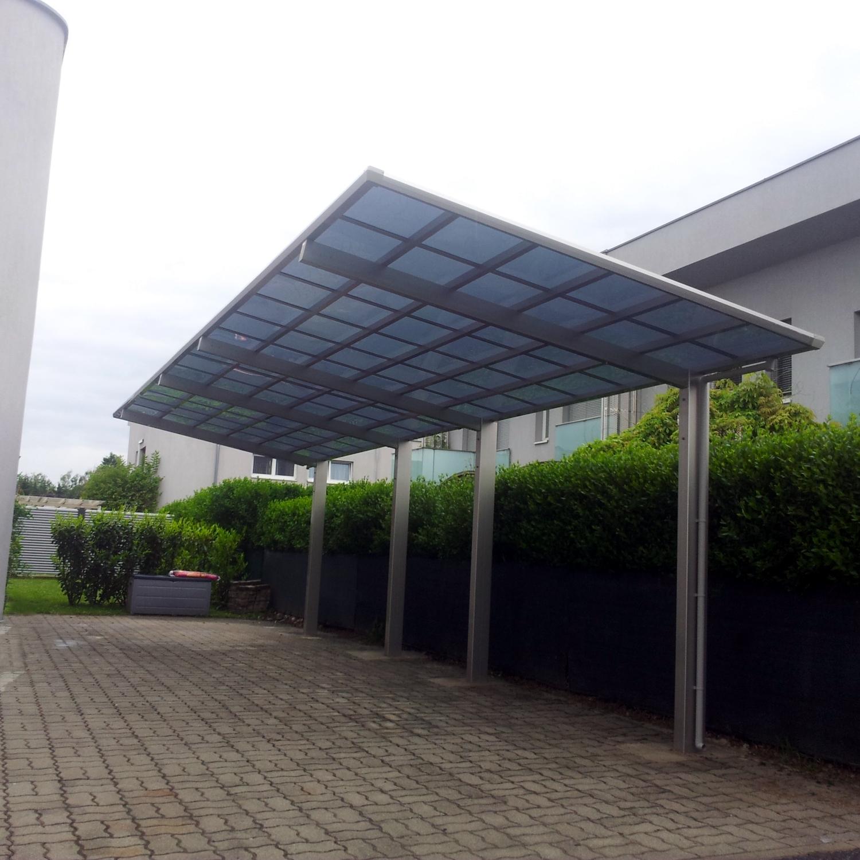 Doppelcarport Satteldach Aluminium Carport Bausatz Anlehncarport