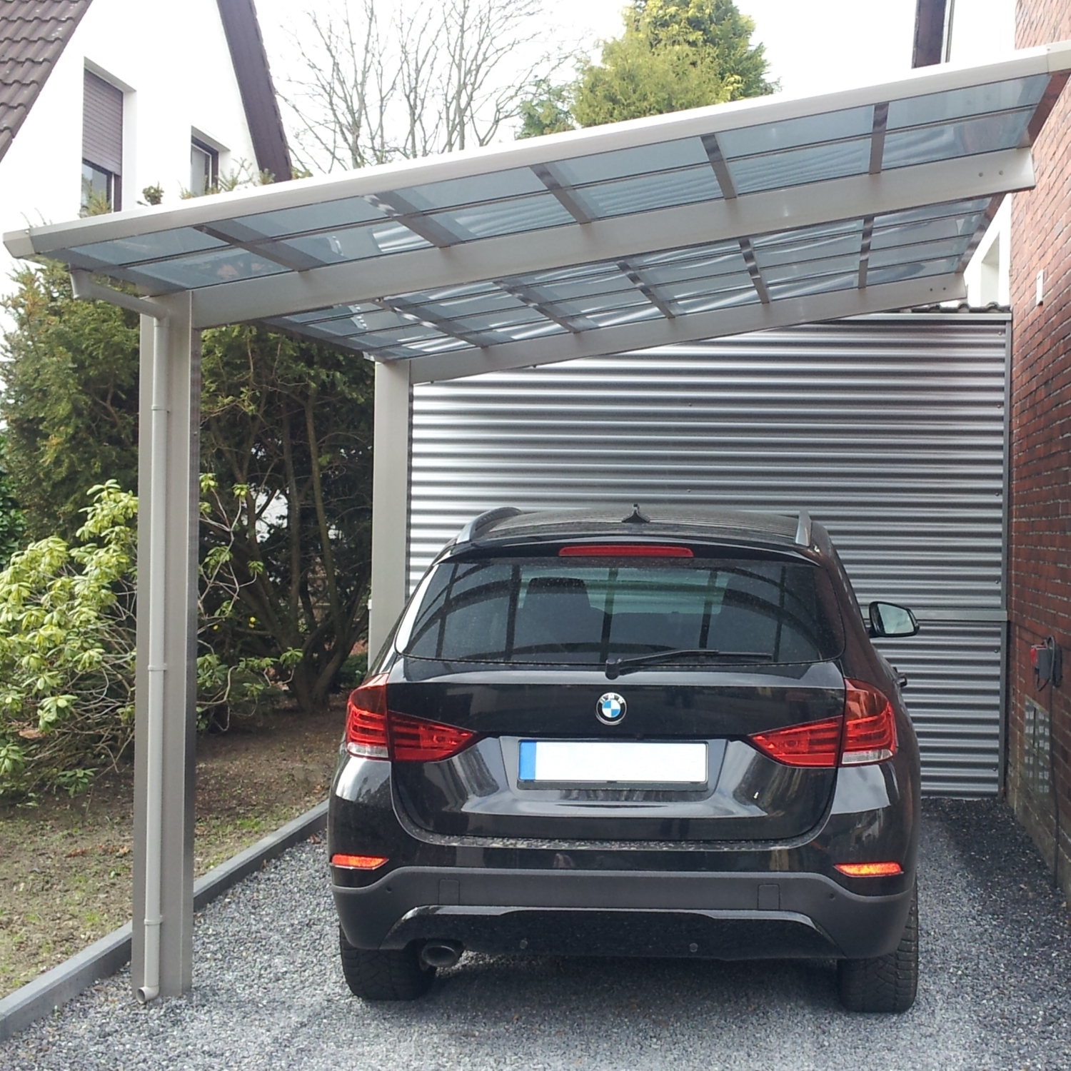 aluminium carport bausatz pavillon einzelcarport terrassen berdachung 495x270cm ebay. Black Bedroom Furniture Sets. Home Design Ideas