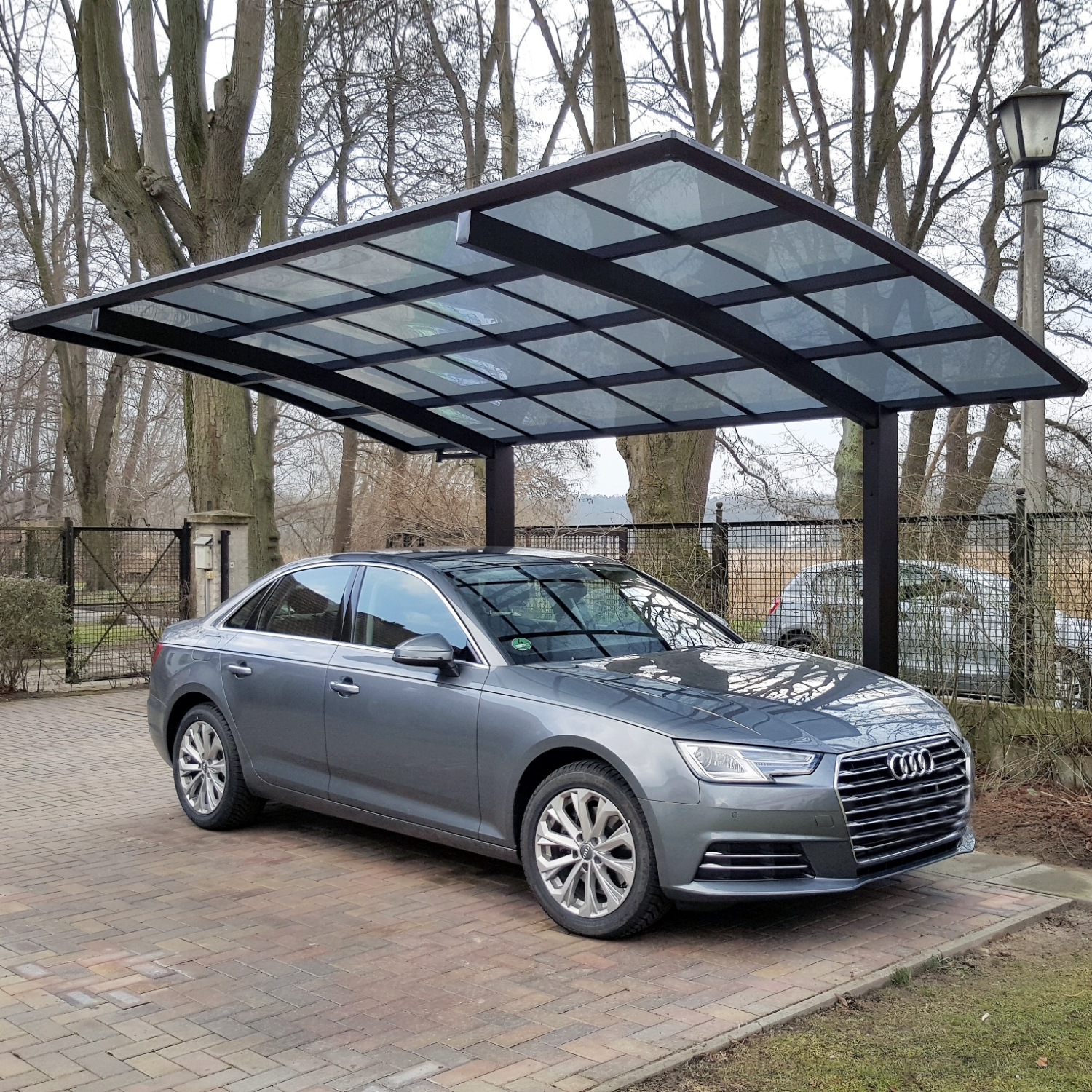 carport bogendach aluminium garage freistehend einzelcarport mattbraun 495x270cm ebay. Black Bedroom Furniture Sets. Home Design Ideas
