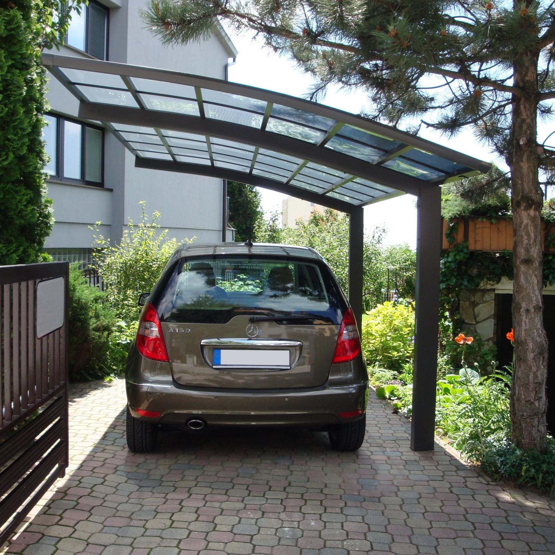 carport bogendach aluminium garage freistehend einzelcarport mattbraun 495x270cm ebay. Black Bedroom Furniture Sets. Home Design Ideas