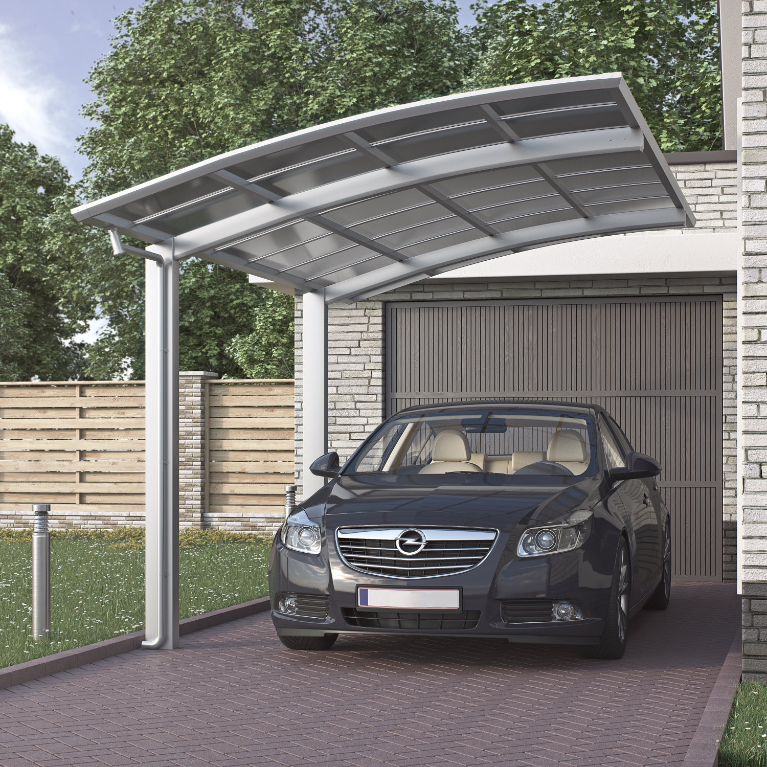 doppelcarport bogendach garage unterstand aluminium carport bausatz satteldach ebay. Black Bedroom Furniture Sets. Home Design Ideas