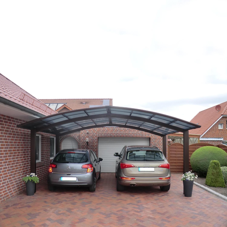 doppelcarport bogendach garage unterstand aluminium carport bausatz satteldach. Black Bedroom Furniture Sets. Home Design Ideas